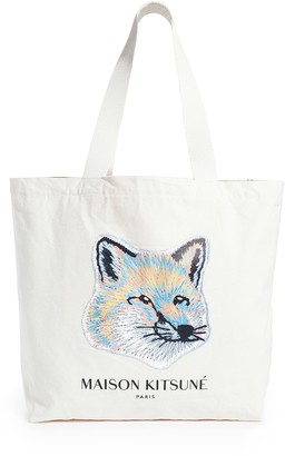 MAISON KITSUNÉ Pastel Fox Head Tote Bag