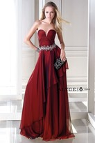 Alyce Paris - Strapless Ruched and Beaded Sweetheart Long A-line Dress 35692