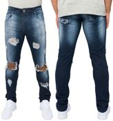 Loyalty And Faith Mens Slim Stretch Fit Ripped Distressed Jeans Trousers Pants