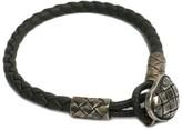 Bottega Veneta 925 Sterling Silver & Leather Intrecciato Bracelet