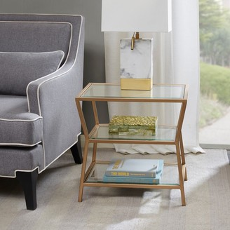 Madison Home USA Zoey Antique Gold Accent Table