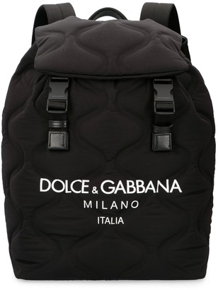 Dolce & Gabbana Backpack With Logo Print