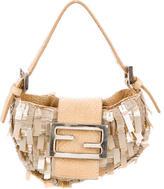 Fendi Snakeskin-Trimmed Handle Bag
