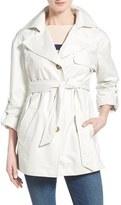 Ellen Tracy Women's Short Single Breasted Chintz Trench Coat