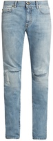 Saint Laurent Repaired-knee Skinny Jeans
