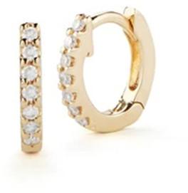 Dana Rebecca DRD Mini Diamond Huggies in Yellow Gold