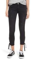 One Teaspoon Women's Freebirds Side Tie Crop Skinny Jeans