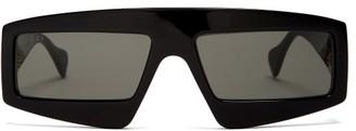Gucci Logo-embellished Acetate Sunglasses - Black