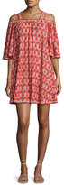 Missoni Mare Cold-Shoulder Coverup Dress, Pink