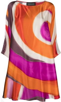 Gianluca Capannolo Abstract Print Silk Shift Dress