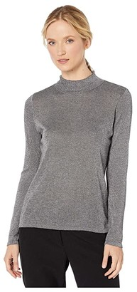 Vince Camuto Long Sleeve Lurex Mock Neck Sweater