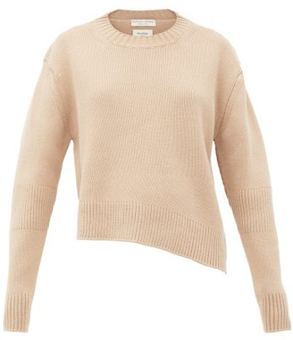 Bottega Veneta Oversized Cut-out Rib-knitted Sweater - Womens - Beige