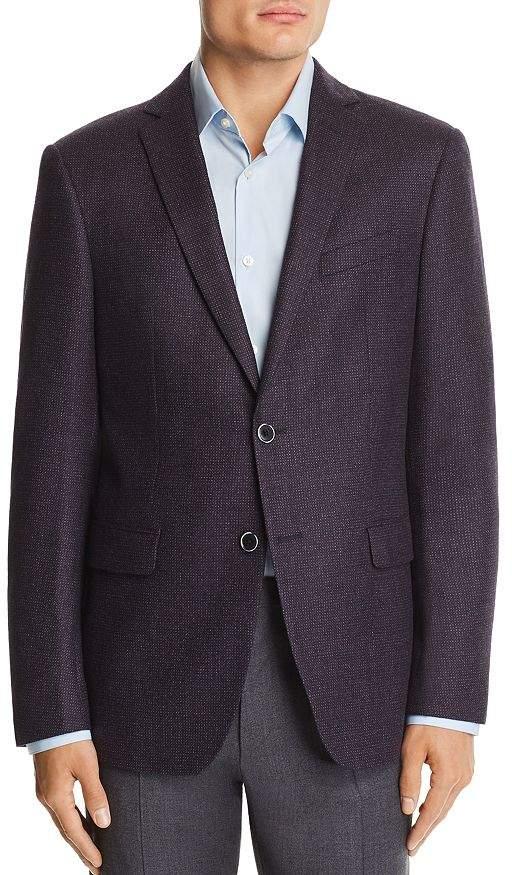 John Varvatos Mélange Birdseye Slim Fit Wool Sport Coat