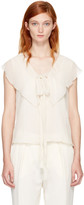 See by Chloe Off-White Ruffle Tank Top