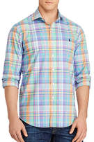 Polo Ralph Lauren Big and Tall Plaid Cotton Poplin Shirt