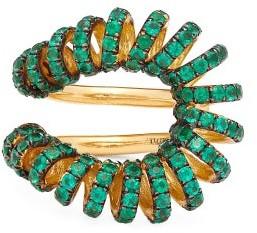 Ana Khouri Maia Emerald & 18kt Gold Ring - Green
