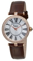 Freelook Women's HA1025RG-2 Vendome Rose Gold Plated Stainless Steel Case White Dial Brown Band Watch