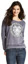 Karma Nation Women's Tiger Graphic Pullover Sweatshirt - Charcoal