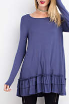 Easel Double Ruffle Tunic