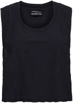 Thumbnail for your product : Lanston Cropped Seersucker Tank