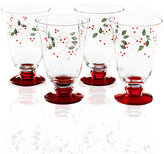 Pfaltzgraff Set of 4 Winterberry Water Goblets