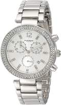 Akribos XXIV Women's AK529SS Diamond and Crystal Accented Swiss Quartz Chronograph Watch