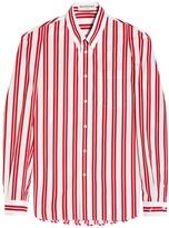Balenciaga Striped Open Sleeves Shirt