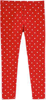 Joe Fresh Toddler Girls' Polka Dot Legging, Red (Size 5)