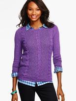 Talbots Classic Crewneck Sweater - Mixed-Stitch Marled