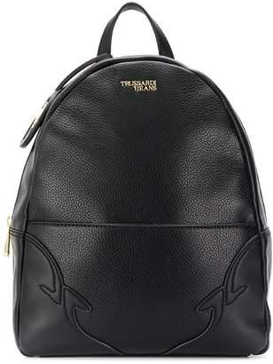 Trussardi Jeans embossed logo backpack