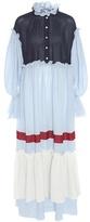 Vika Gazinskaya Ruffled Wool-blend Maxi Dress
