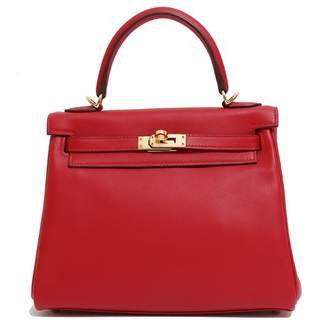 Hermes Kelly 25 Red Leather Handbags