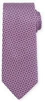 Eton Woven Textured Pinwheel Silk Tie, Pink