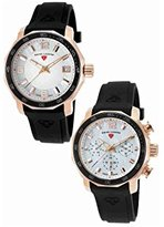 Swiss Legend Quartz Stainless Steel and Silicone Casual Watch, Color:Black (Model: SL16191SM16192SMRG02)