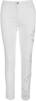 Ermanno Scervino White Denim Jeans With Applications