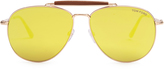Tom Ford Sean mirrored aviator sunglasses