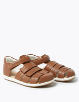 Marks and Spencer Kids' Leather Riptape Sandals (4 Small - 12 Small)