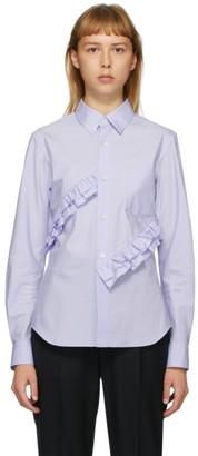 Comme des Garçons Comme des Garçons Blue Broad Double Ruffle Shirt