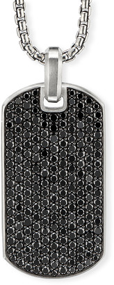 David Yurman Men's Pave Tag w/ Black Diamonds