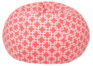 Gold Medal Bean Bags Gotcha Standard 100% Cotton Classic Bean Bag Upholstery Color: Coral