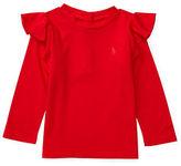 Ralph Lauren Baby Girls Ruffle Knit Jersey Top