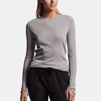 James Perse Technical Jersey Ribbed Tee