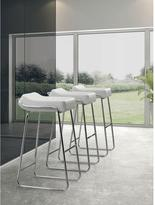 ZUO Wedge 33 in. Chrome Cushioned Bar Stool (Set of 2)