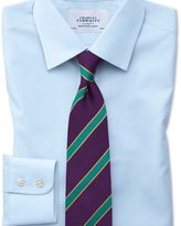 Charles Tyrwhitt Classic fit non-iron poplin sky blue shirt