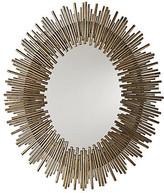 Arteriors Prescott Oval Wall Mirror - Antiqued Gold Leaf