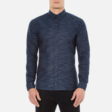 Hugo Ero3 Stripe Detail Long Sleeve Shirt Navy