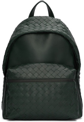 Bottega Veneta Green Intrecciato Medium Backpack
