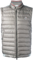 Moncler padded front gilet - men - Cotton/Feather Down/Polyamide - S