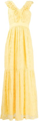 Liu Jo Floral Lace Patterned Tiered Dress