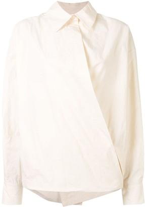 UMA WANG Wrap Front Shirt